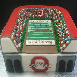 Groom's Cake 1- Ohio State Stadium