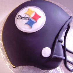 Groom's Cake 4- Steelers Helmet