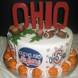 Groom's Cake 7- Ohio Sports Team