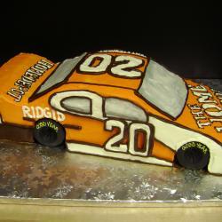 Shaped 107- Orange Race Car