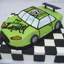 Shaped 108- Lime Green Race Car