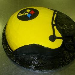 Shaped 117a- Yellow Steelers Helmet