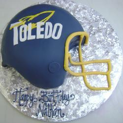 Shaped 118- Toledo Football Helmet