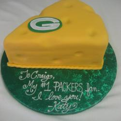 Groom's Cake 18- Green Bay Cheesehead