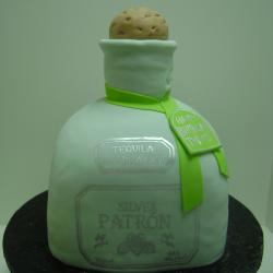 Groom's Cake 25- Patron Bottle