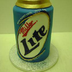 Groom's Cake 27- Miller Lite Can