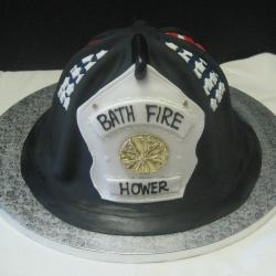 Groom's Cake 43- Fireman Helmet