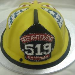 Groom's Cake 44- Fireman Helmet