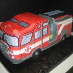 Groom's Cake 49- Fire Truck