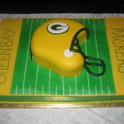 Groom's Cake 6- Packers Helmet