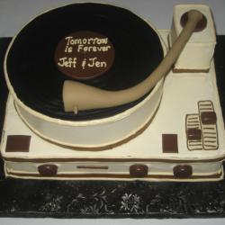 Groom's Cake 62- Record Player