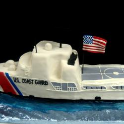 Groom's Cake 64- Coast Guard Boat