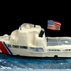 Groom's Cake 64- Coast Guard Boat