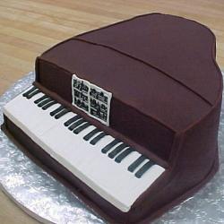 Shaped 65- Brown Piano