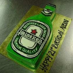 Shaped 84- Heineken Bottle