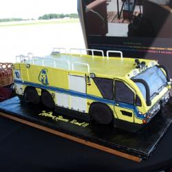 Shaped 95- Yellow Fire Truck