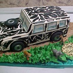 Shaped 98- Zebra Jeep