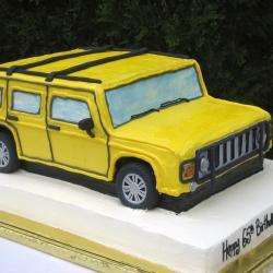 Shaped 99- Yellow Hummer