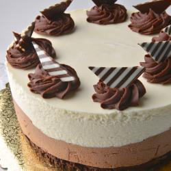 Black and White Mousse Torte